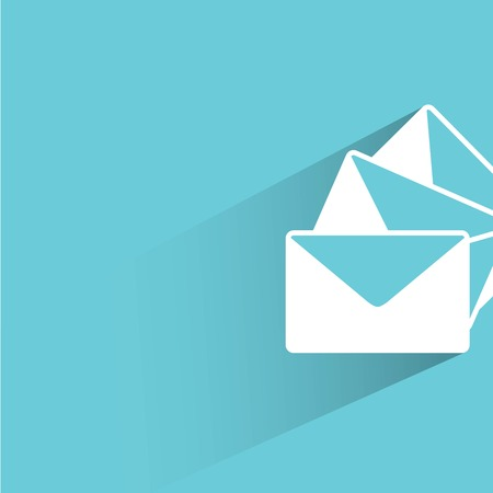blue icon: email, letter