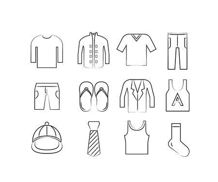 accessoire: doek en accessoire pictogrammen
