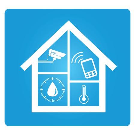 intelligens otthon automatizálási technika Illusztráció