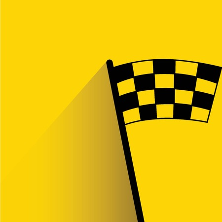 racing: racing flag Illustration