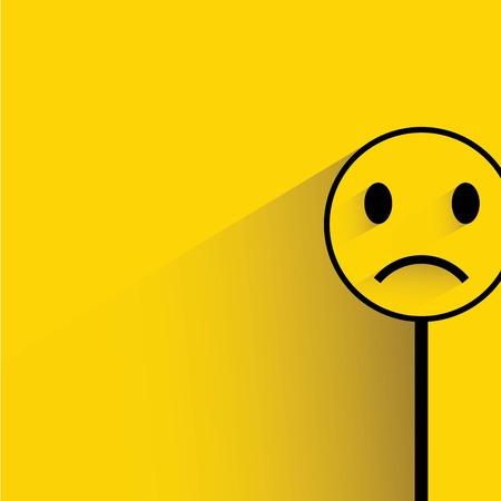 sad emoticon 向量圖像