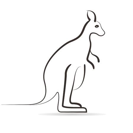 gazing: sketch kangaroo Illustration