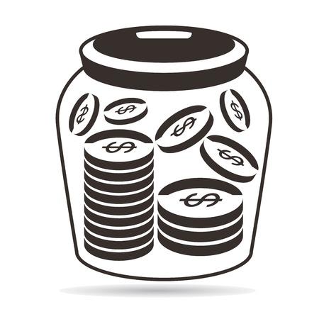 dime: tip jar Illustration