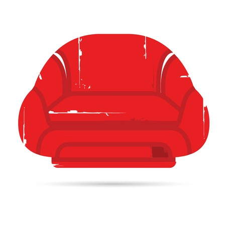 red sofa: red sofa Illustration