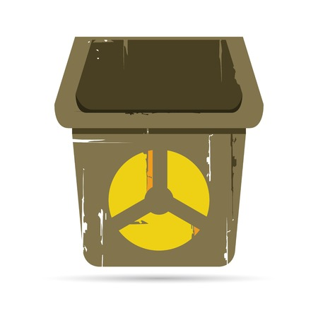 radiacion: bin con el s�mbolo de la radiaci�n