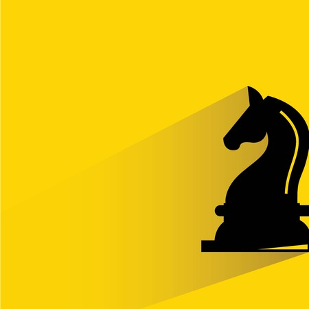 horse silhouette: horse, knight chess Illustration