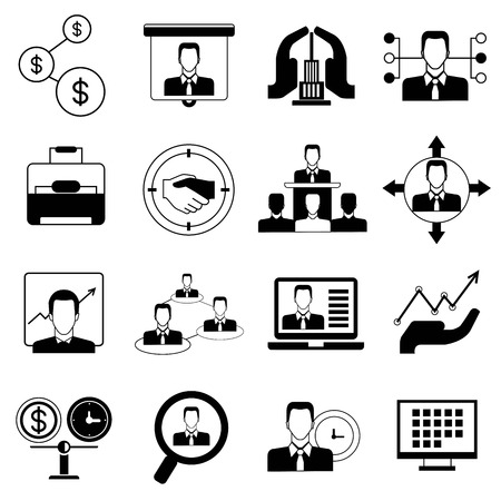 office and organization icons Illustration