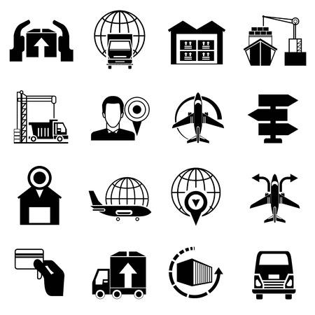 shipment tracking: shipping icons Illustration