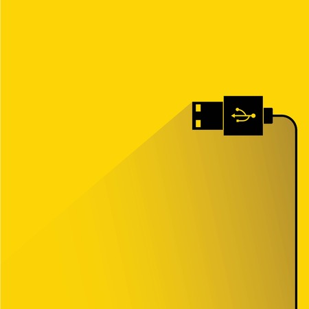 usb disk: usb plug Illustration