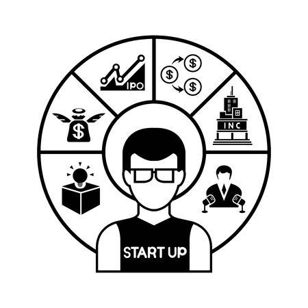 waste money: startup Illustration