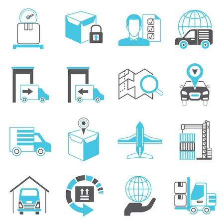box weight: logistics shipping icons
