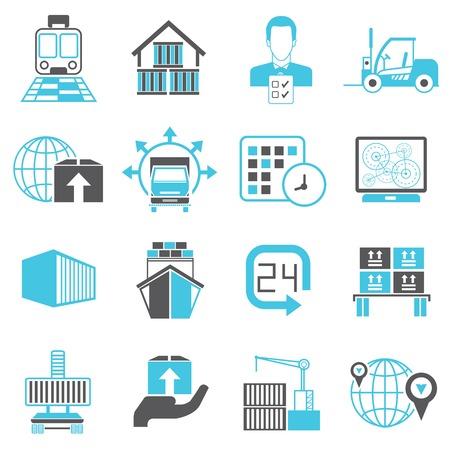 logistics shipping icons