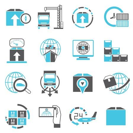portage: logistics shipping icons
