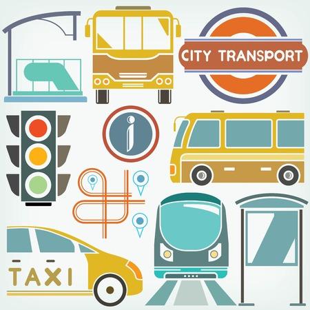 portage: urban city and traffic concept Illustration