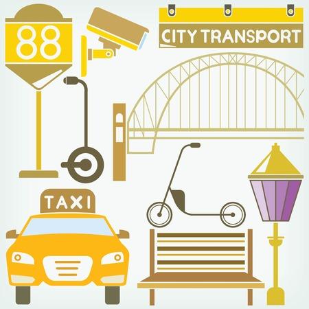 burgh: urban city and traffic concept Illustration