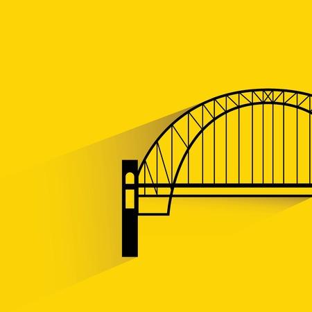 clipart street light: bridge Illustration
