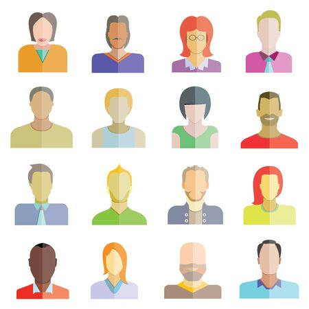 people flat icons collection Vector