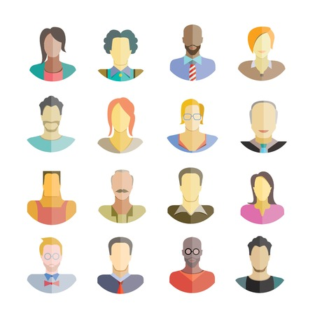 african teacher: people flat icons collection Illustration