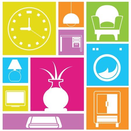 davenport: interior design concept Illustration