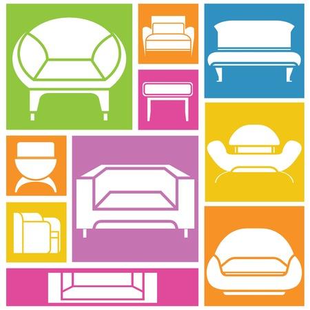 sofa icons Illustration