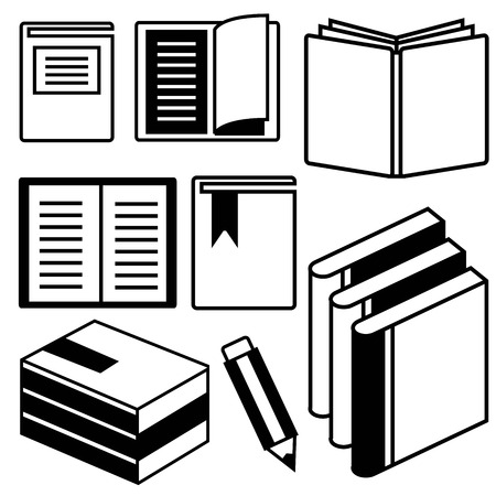 electronic book: book icons