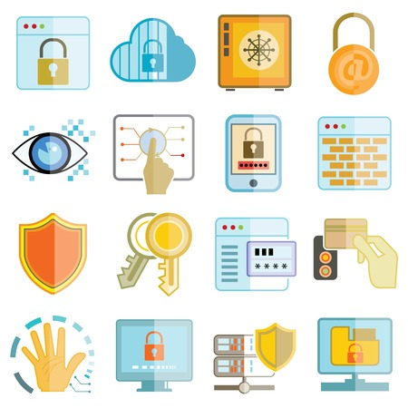 hone: information technology icons, security system icons