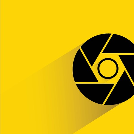 abstract aperture: lens symbol Illustration