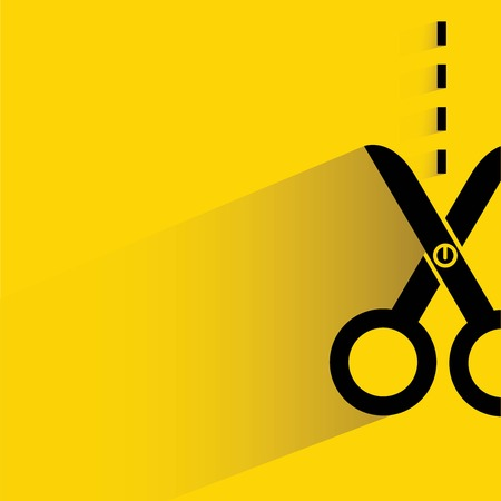 scissors cutting: scissors cutting along the line Illustration