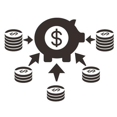 fondos negocios: fondo de inversión Vectores