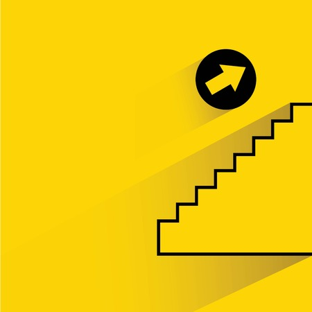 up stair: up stair way sign Illustration