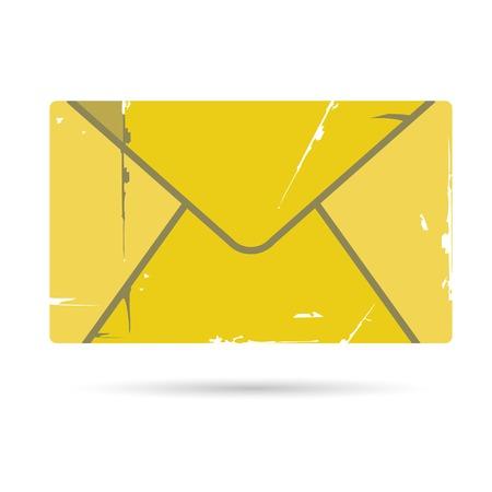envelop: grunge letter, envelop