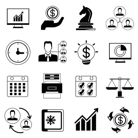 allocate: office and organization icons Illustration