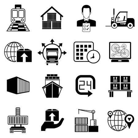 received: shipping icons Illustration