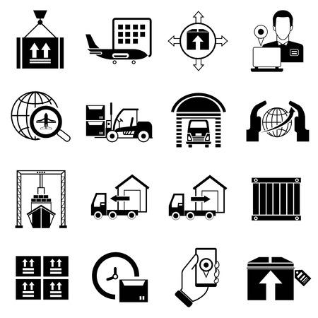 cargo transport: shipping icons Illustration