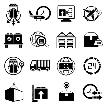 export import: shipping icons Illustration