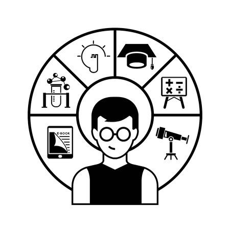 dispensation: student infographic Illustration