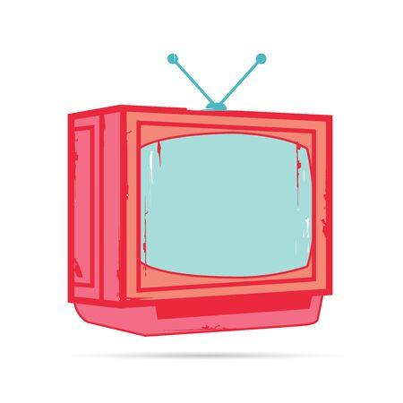 old fashioned tv: television Illustration