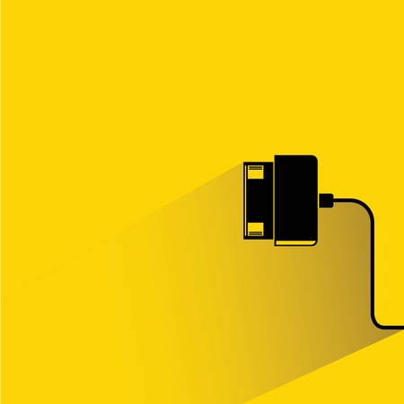 usb cable: mobile charging plug Illustration