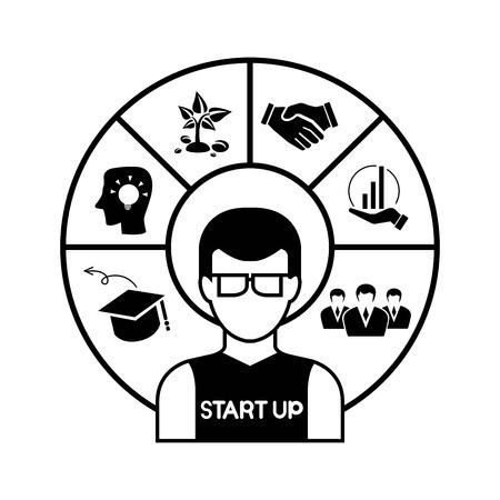 disposition: startup Illustration