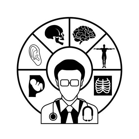 medico: doctor infographic