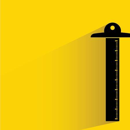 drafting tools: ruler Illustration