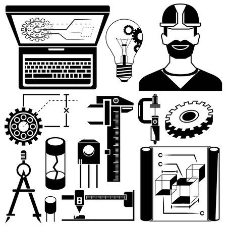 mechanical tools, engineering elements