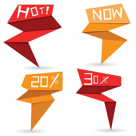 Pop-up-Verkauf Aufkleber Vektorgrafik