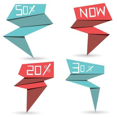pop up: pop-up verkoop sticker Stock Illustratie