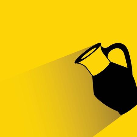 water jug: milk jug Illustration