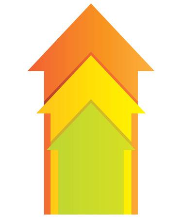onwards: arrow chart Illustration
