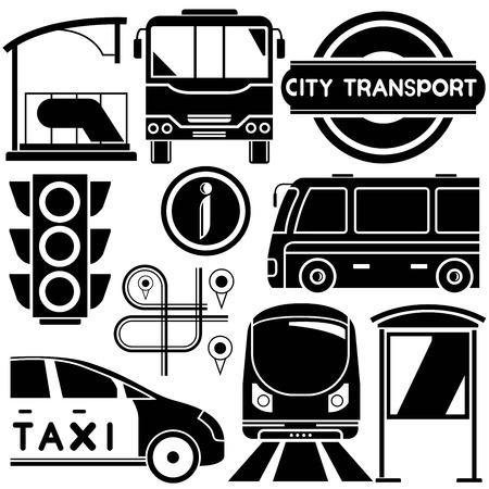 civic: city transportation Illustration