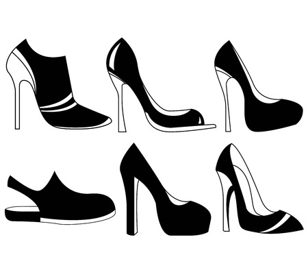 sales trend: shoes icons