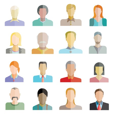 people flat icons Vector