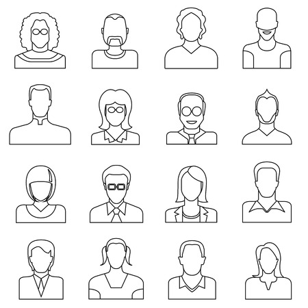 people icons, line icons Vector